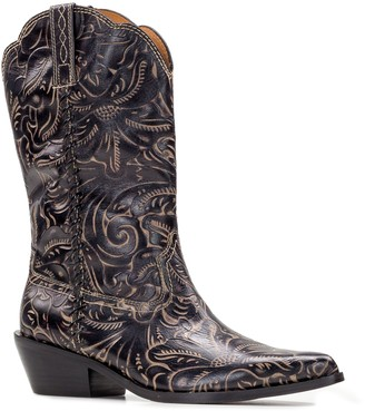 Patricia Nash Tuscan Tooled Leather Western Boots - Bergamo