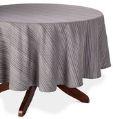 "Threshold Stripe Tablecloth Gray - (70"" Round"
