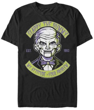 Goosebumps Classic Sony Men's Slappy The Dummy Profile Doesn't Play Well Short Sleeve T-Shirt