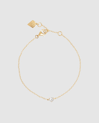 Wanderlust + Co Brilliant Topaz Gold Sterling Silver Bracelet