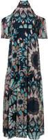 Temperley London printed cold shoulder dress