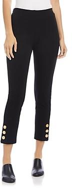 Karen Kane Button Hem Cropped Piper Pants