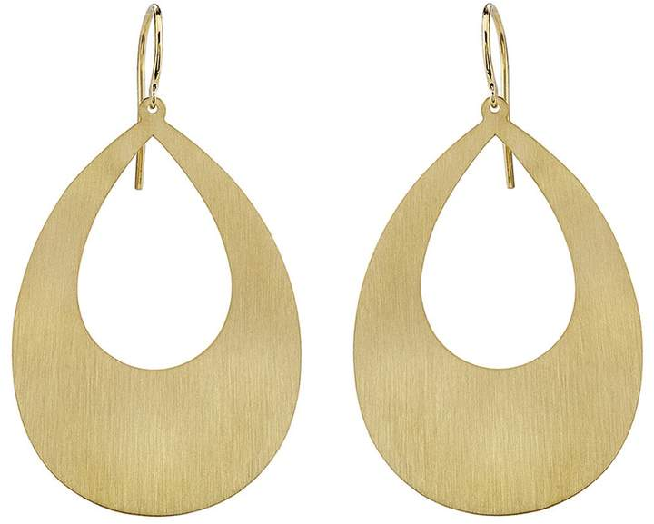 Irene Neuwirth Large Cut-Out Pear Shape Drop Earrings