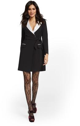 New York & Co. Black Blazer Dress