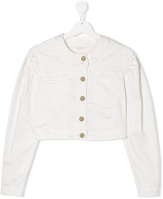 MonnaLisa TEEN cropped denim jacket