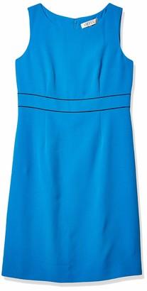 Kasper Women's Stretch Crepe Sheath Dress W/Front Slit