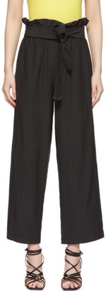 3.1 Phillip Lim Black Cropped Paperbag Trousers