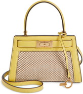 Tory Burch Small Lee Radziwill Canvas & Leather Bag