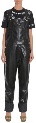 Givenchy Faux Leather Dungarees