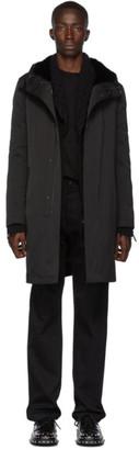 Yves Salomon Black Down Gabardine Jacket