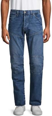 G Star Raw Straight Tapered Moto Jeans