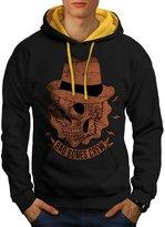 Al Capone Gangster Mafia Skull Men XXL Contrast Hoodie | Wellcoda