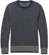 J.Crew Two-Tone Wool Sweater