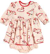 Stella McCartney Swans Printed Dress & Diaper Cover