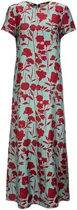 La DoubleJ Edition 22 Floral Twill Silk Swing Dress