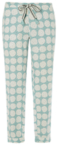 White Stuff Crazy About Spots Pyjama Bottoms, Pepper Green