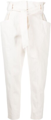 IRO Tie-Waist Cotton Trousers