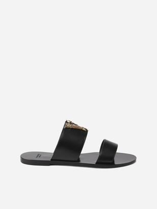 Versace Virtus Leather Sandals