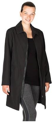 Modern Eternity Avelynne Maternity Trench Coat (Black) Women's Clothing