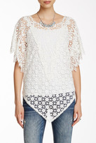 Johnny Was Sheer Lace Tee