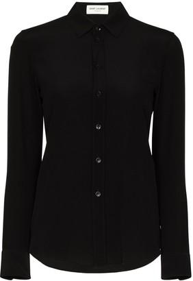 Saint Laurent Classic Collar Silk Shirt