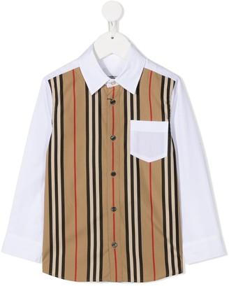 BURBERRY KIDS Striped Button-Up Shirt