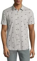 John Varvatos Bird Printed Shirt