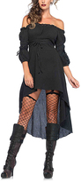 Leg Avenue Black Off-Shoulder High-Low Dress - Plus Too