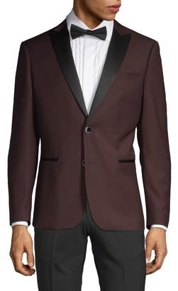 Saks Fifth Avenue Nhp Extra Slim Fit Peak Lapel Tuxedo Jacket