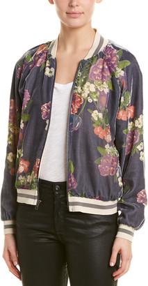 Lavender Brown Floral Print Jacket