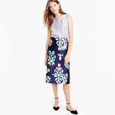 J.Crew Collection silk twill skirt in painted gemstone print