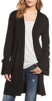 Halogen Petite Women's Lightweight Tie Sleeve Cardigan