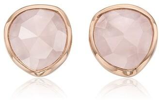 Monica Vinader Siren Stud Rose Quartz earrings