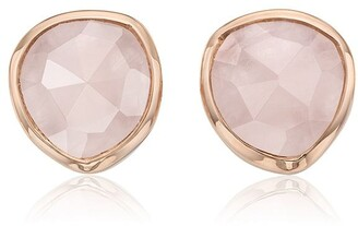 Monica Vinader Siren Stud Rose Quartz earrings