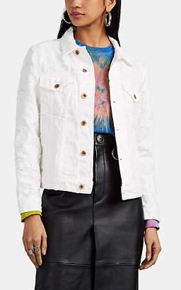 NSF Women's Distressed Denim Jacket - White