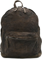Giorgio Brato worn effect backpack - men - Cotton/Leather - One Size