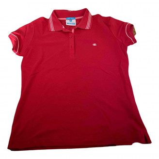 Champion Red Cotton Tops