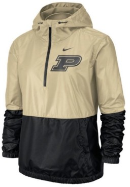 Nike Women's Purdue Boilermakers Half-Zip Jacket
