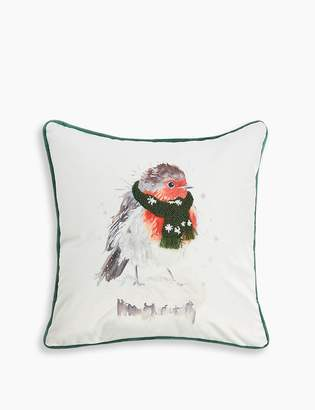 Marks and Spencer Robin Print Cushion