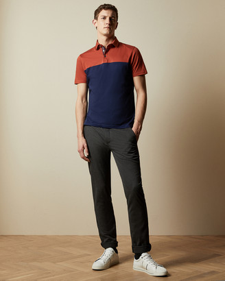 Ted Baker LOOP Cotton colour block polo shirt