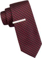 Jf J.Ferrar JF Atlantic Avenue Nonsolid Dot Tie and Tie Bar Set
