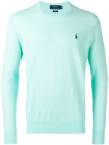 Ralph Lauren embroidered logo jumper - men - Cotton/Cashmere - XL