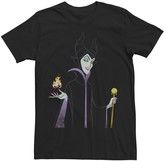 Disney Men's Sleeping Beauty Maleficent With Staff & Aurora Flame Tee