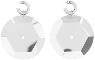 Burberry Paillette hoop earrings
