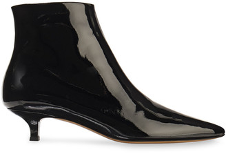 The Row Coco Patent-leather Ankle Boots