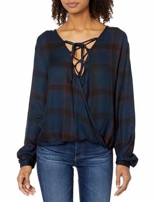 Silver Jeans Co. Women's Susanna Lace-up Wrap Shirt