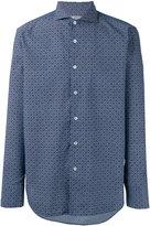 Canali tile print slim-fit shirt - men - Cotton - S