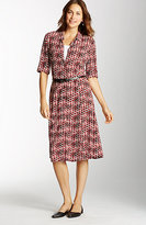 J. Jill Printed A-Line Shirtdress