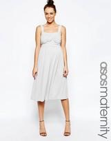 Asos Slinky Ruched Bodice Midi Dress