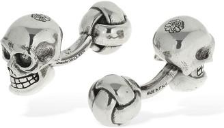 Alexander McQueen 3d Skull Cufflinks W/ Crystal